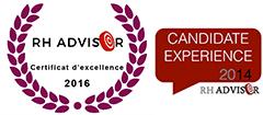 Talent Expert -Certificat Excellence par RH Adivsor